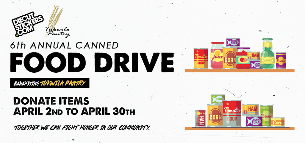 Canned food drive with tukwila pantry