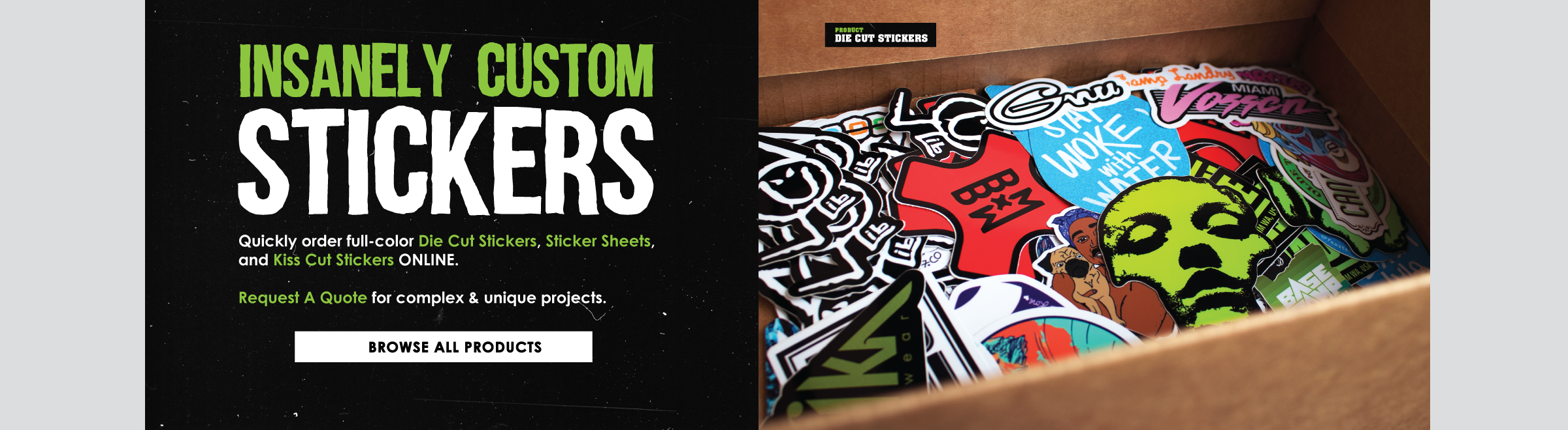 Home · shop · insanely custom · templates · blog · faqs die cut stickers