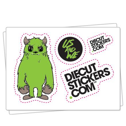 Kiss cut stickers transfer stickers sticker sheets